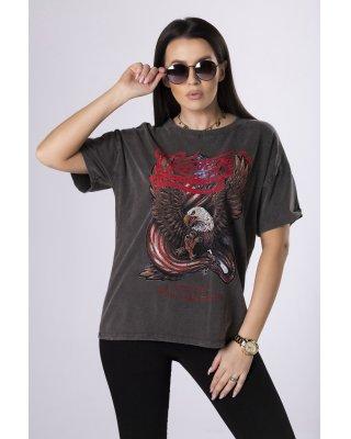 dekatyzowany t-shirt z...