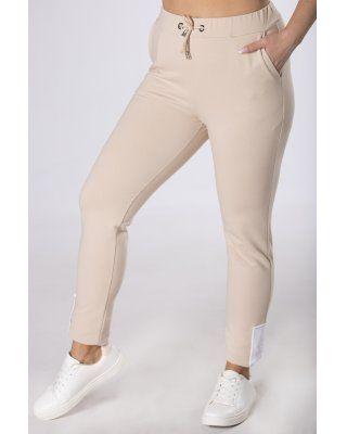 dresowe spodnie z...