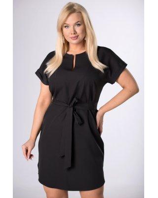 sukienka z wiązaniem czarny