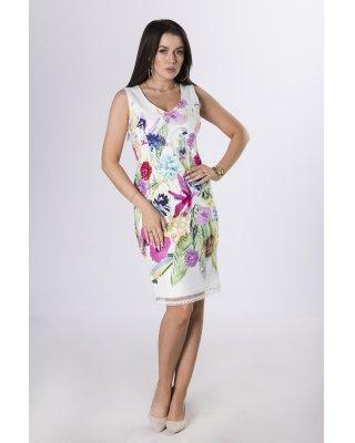 sukienka w malowany wzór...