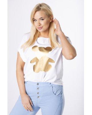 t-shirt z surowym...