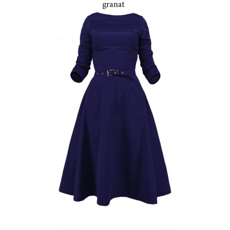 Rozkloszowana sukienka z rękawem CAMILL 164 8