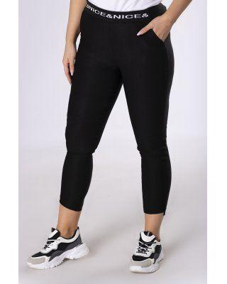 spodnie ze ściągaczem czarny