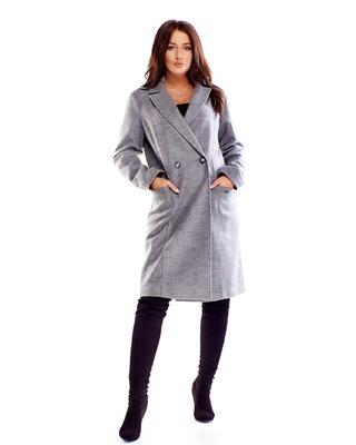 wełniany płaszcz zapinany...