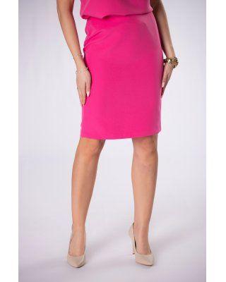 ołówkowa spódnica różowy