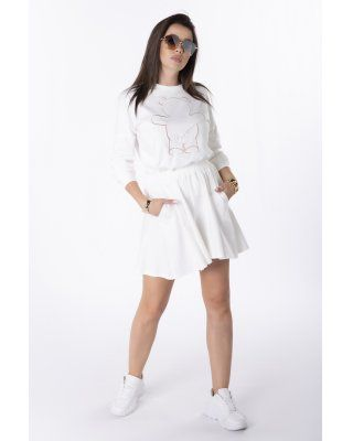 spódnico-szorty kremowy
