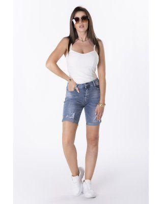 jeansowe spodenki z...