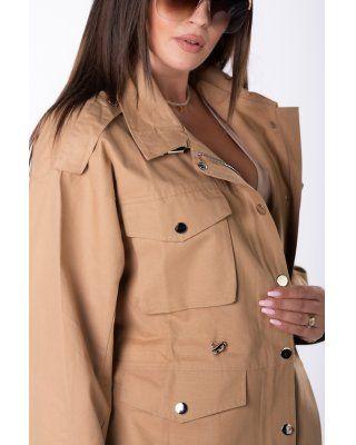 kurtka ze ściągaczem brązowy