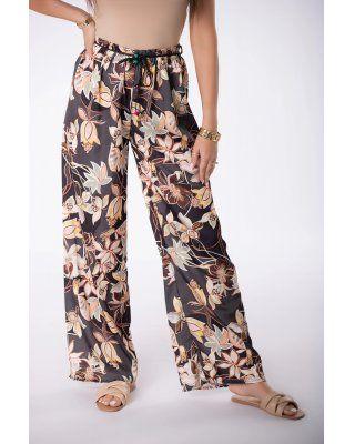 szerokie spodnie z printem...