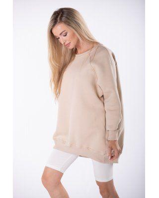 bluza oversize beżowy