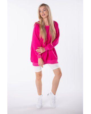 bluza oversize różowy
