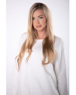 bluza oversize kremowy