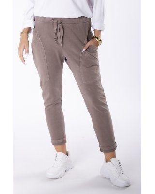 spodnie z ozdobnymi...