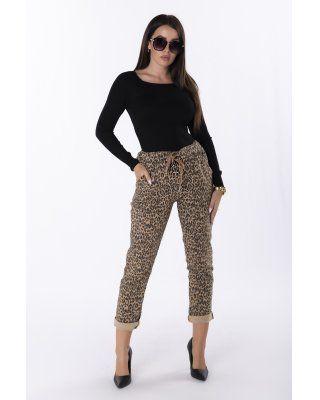 wzorzyste spodnie z efektem...