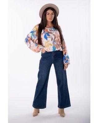 jeansy z szerokimi...