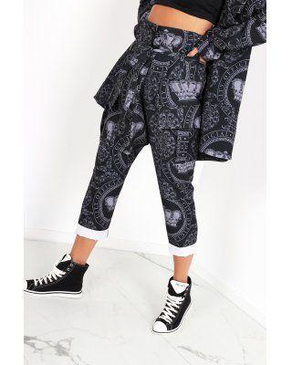 spodnie w print z...