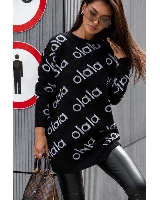 Sweter w graficzny print...