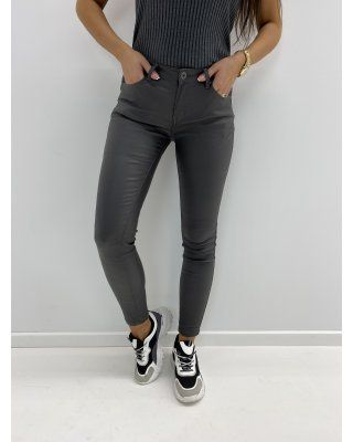 woskowane spodnie szary