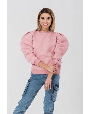 bluza z nadrukiem różowy