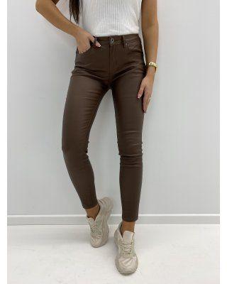 woskowane spodnie brązowy