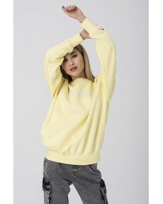 bluza z aplikacją żółty