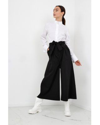 spodnie kuloty czarny