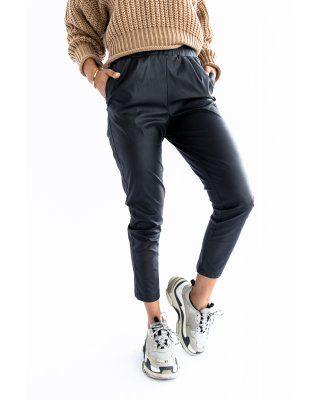spodnie z ekoskóry czarny