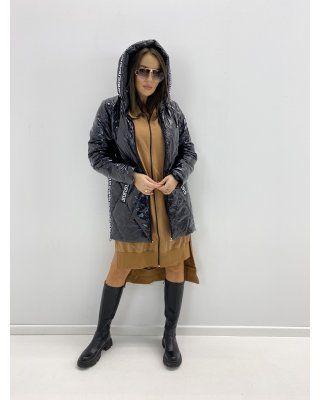 pikowana kurtka z lampasami...