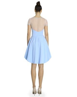 Rozkloszowana sukienka z rękawem CAMILL 266 12