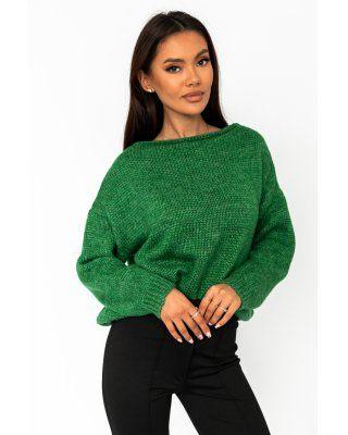 oversize'owy sweter zielony
