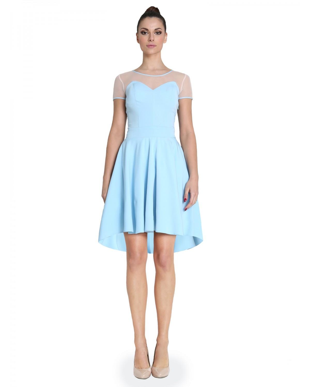 Rozkloszowana sukienka z rękawem CAMILL 266 11