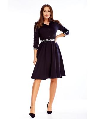 sukienka z ozdobną gumką...