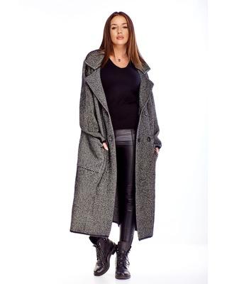 dwurzędowy płaszcz  czarny